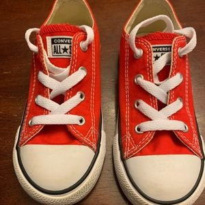 Like New - Red Converse - Size 10 (Toddler)